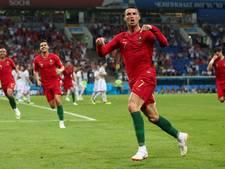 Fenomenale Ronaldo redt punt voor Portugal in voetbalfeest tegen Spanje